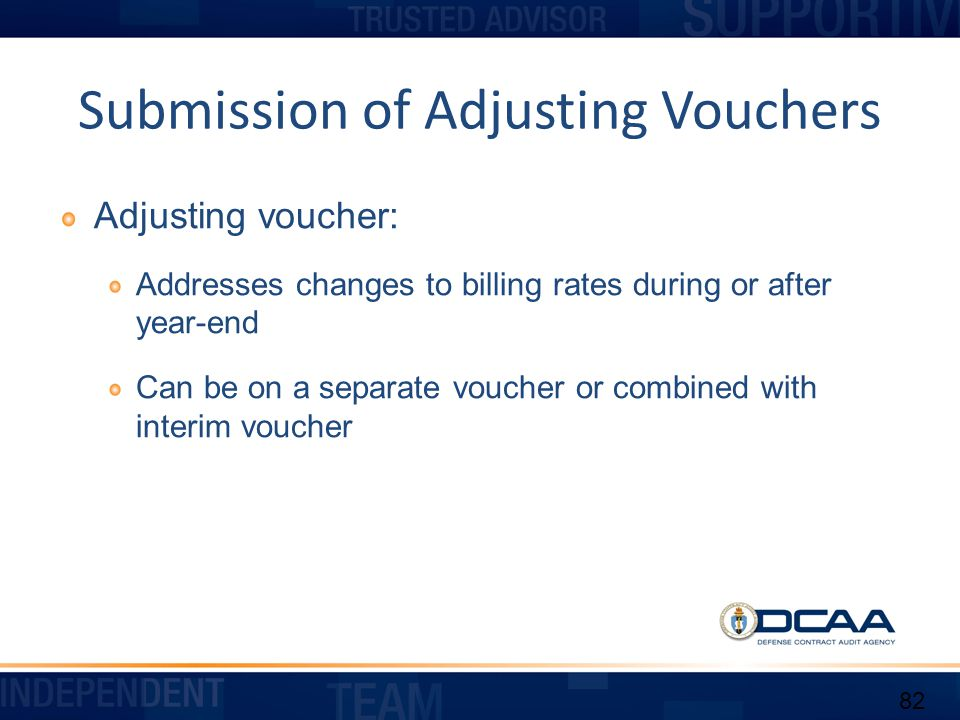 Submission of Adjusting Vouchers