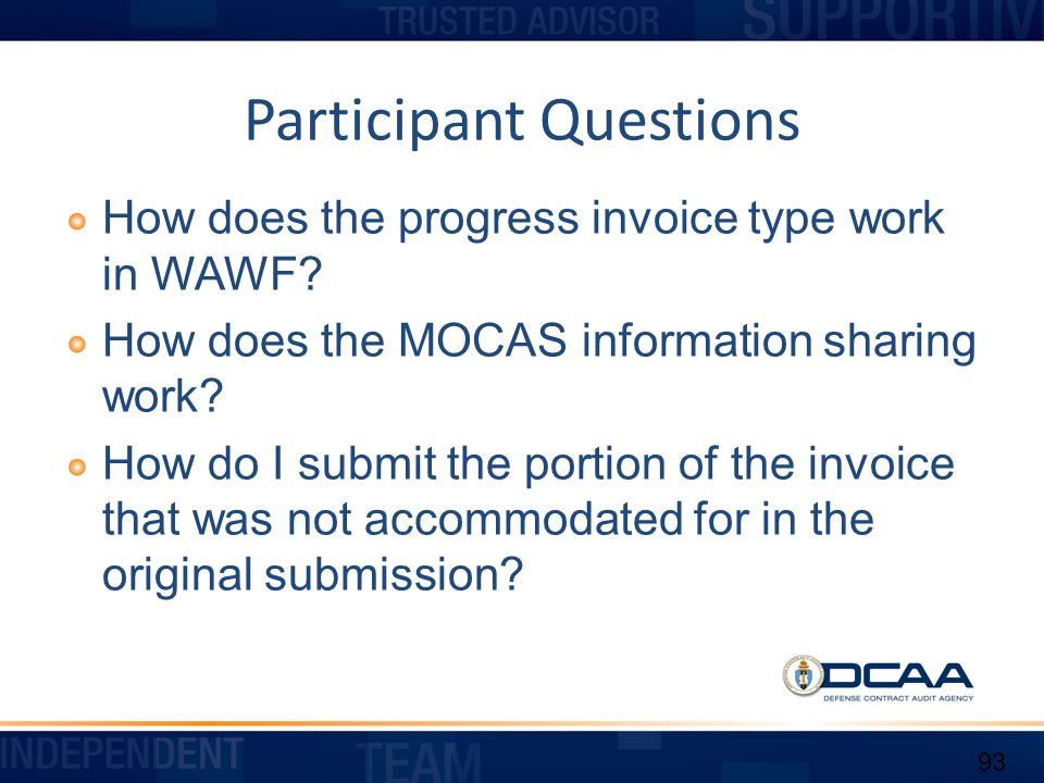 Participant Questions