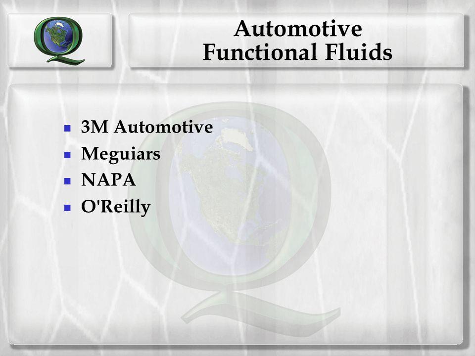 Automotive Functional Fluids