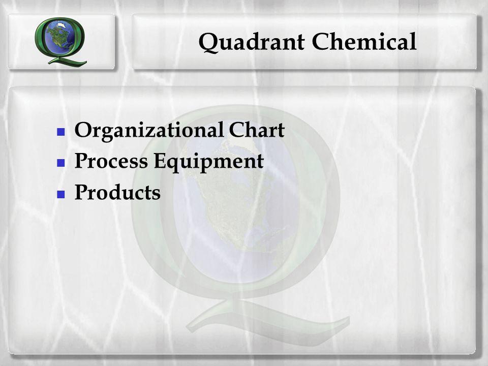 Quadrant Chemical Organizational Chart Process Equipment Products