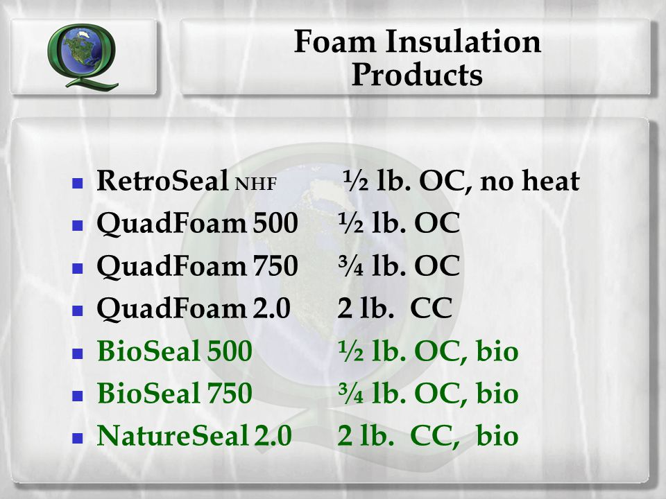 Foam Insulation Products