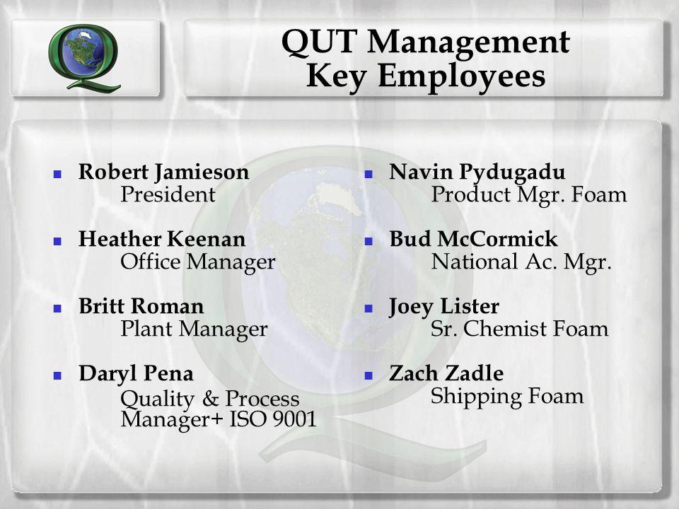 QUT Management Key Employees