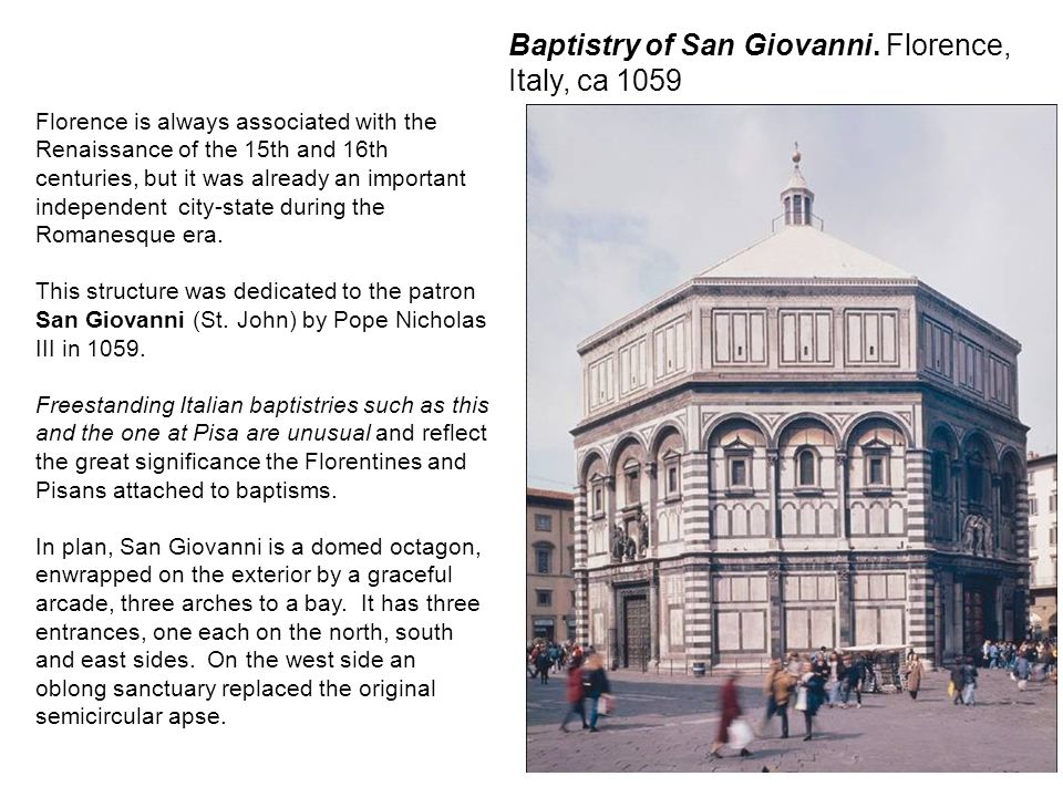 Baptistry of San Giovanni. Florence, Italy, ca 1059