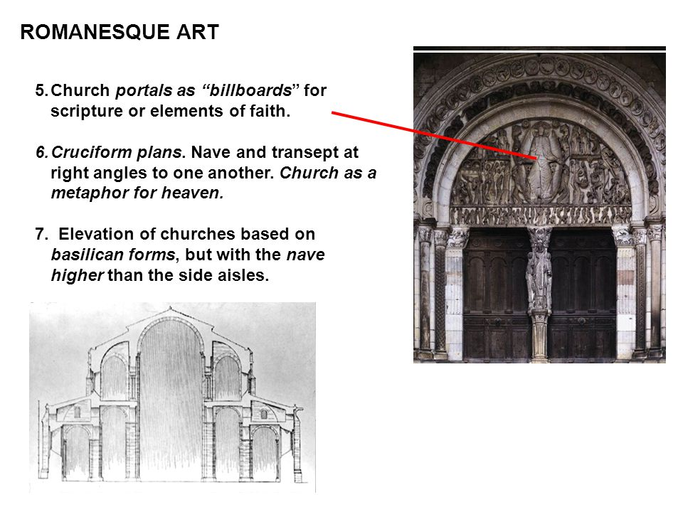 ROMANESQUE ART Church portals as billboards for scripture or elements of faith.