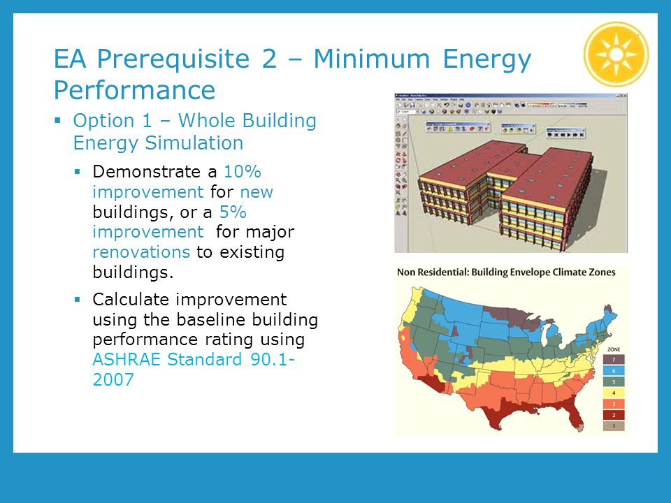 EA Prerequisite 2 – Minimum Energy Performance