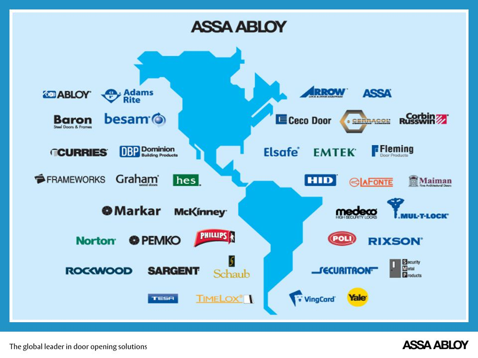I'd like to give you a quick overview on ASSA ABLOY