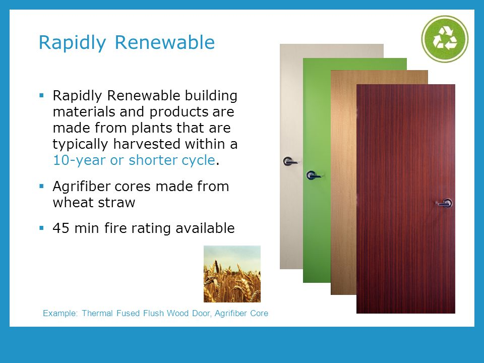 Rapidly Renewable