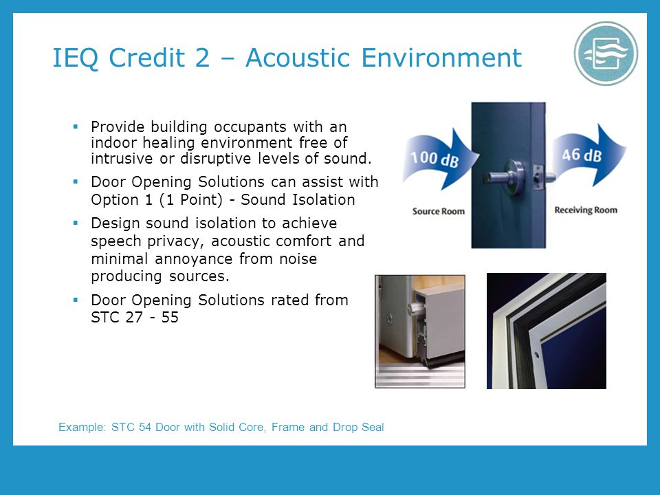 IEQ Credit 2 – Acoustic Environment