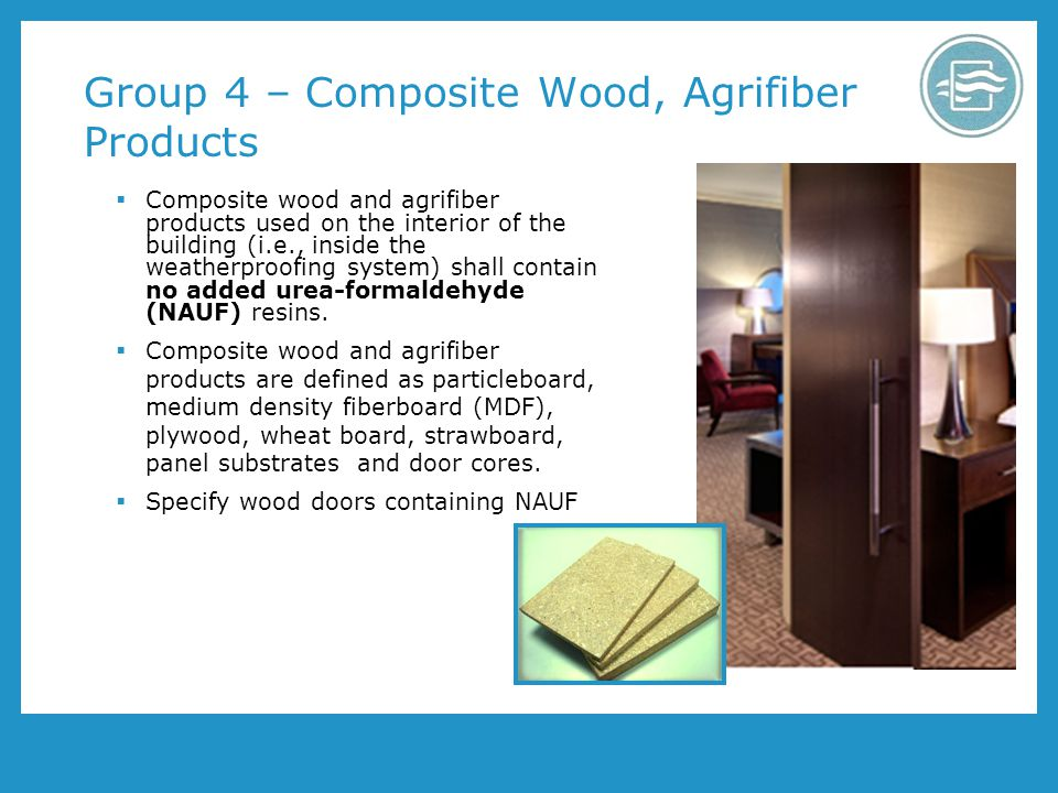Group 4 – Composite Wood, Agrifiber Products
