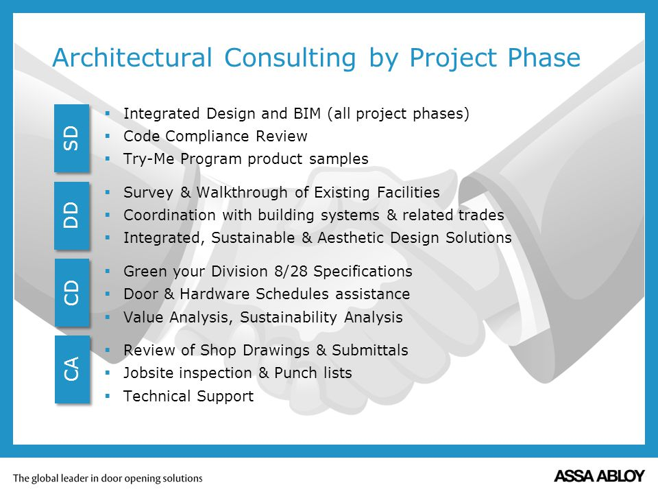 Architectural Consulting by Project Phase