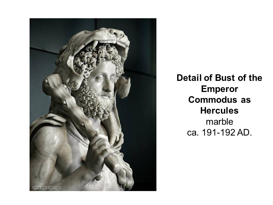 Detail of Bust of the Emperor Commodus as Hercules