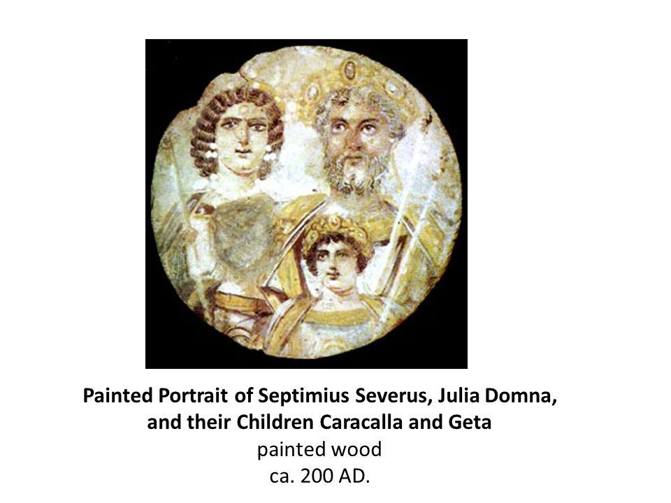Painted Portrait of Septimius Severus, Julia Domna,