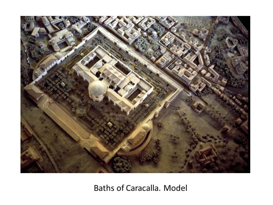 Baths of Caracalla. Model