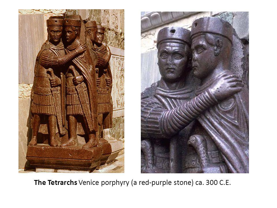 The Tetrarchs Venice porphyry (a red-purple stone) ca. 300 C.E.