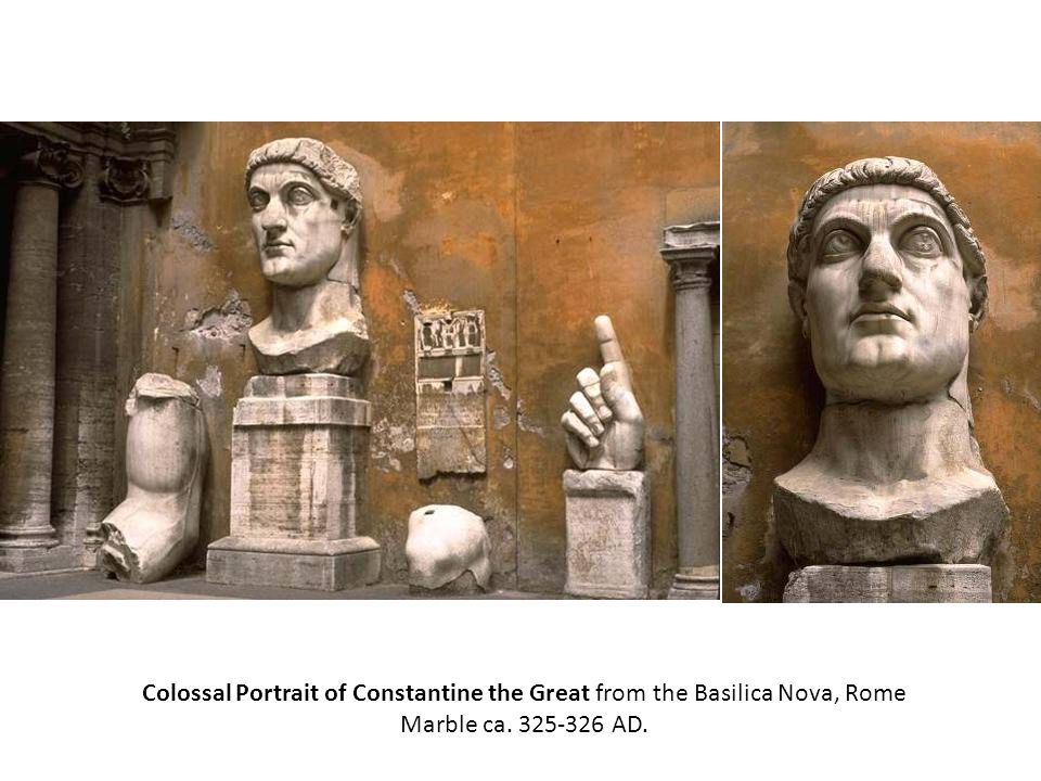 Colossal Portrait of Constantine the Great from the Basilica Nova, Rome