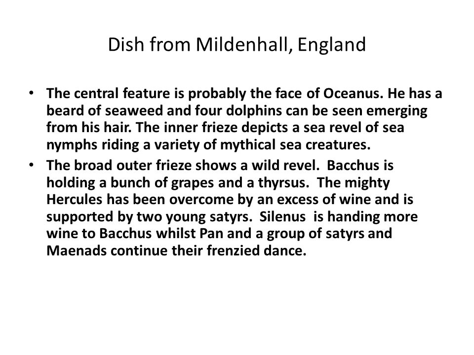 Dish from Mildenhall, England