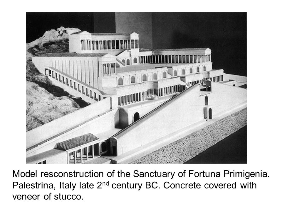 Model resconstruction of the Sanctuary of Fortuna Primigenia