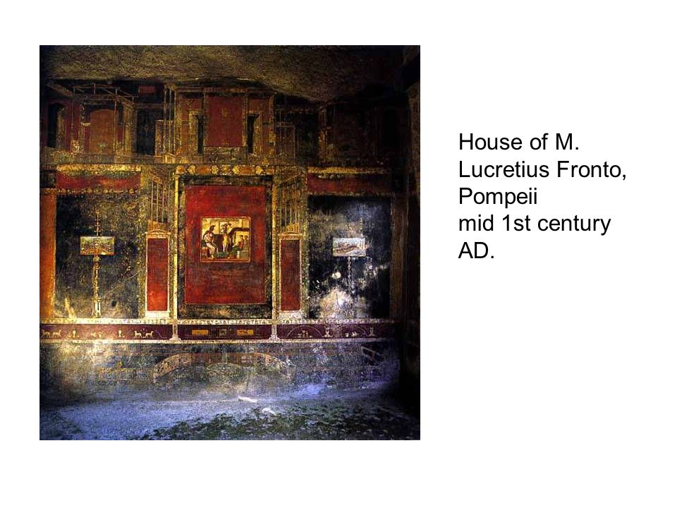 House of M. Lucretius Fronto, Pompeii