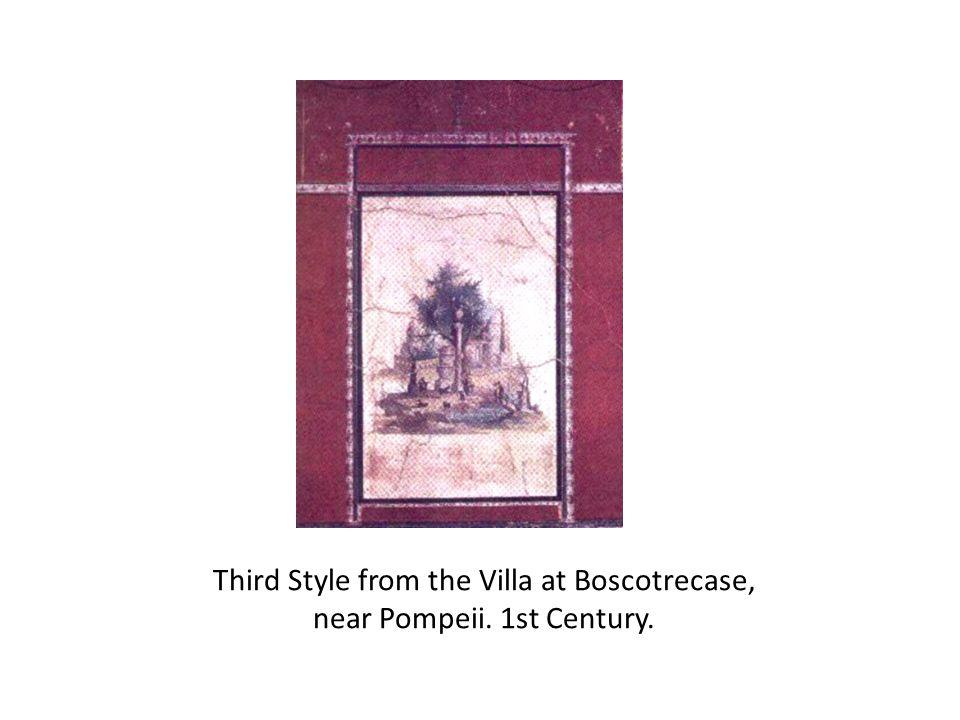 Third Style from the Villa at Boscotrecase, near Pompeii. 1st Century.