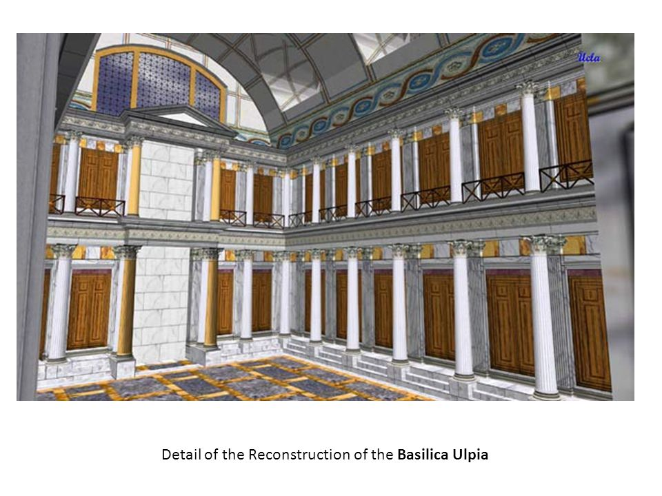 Detail of the Reconstruction of the Basilica Ulpia