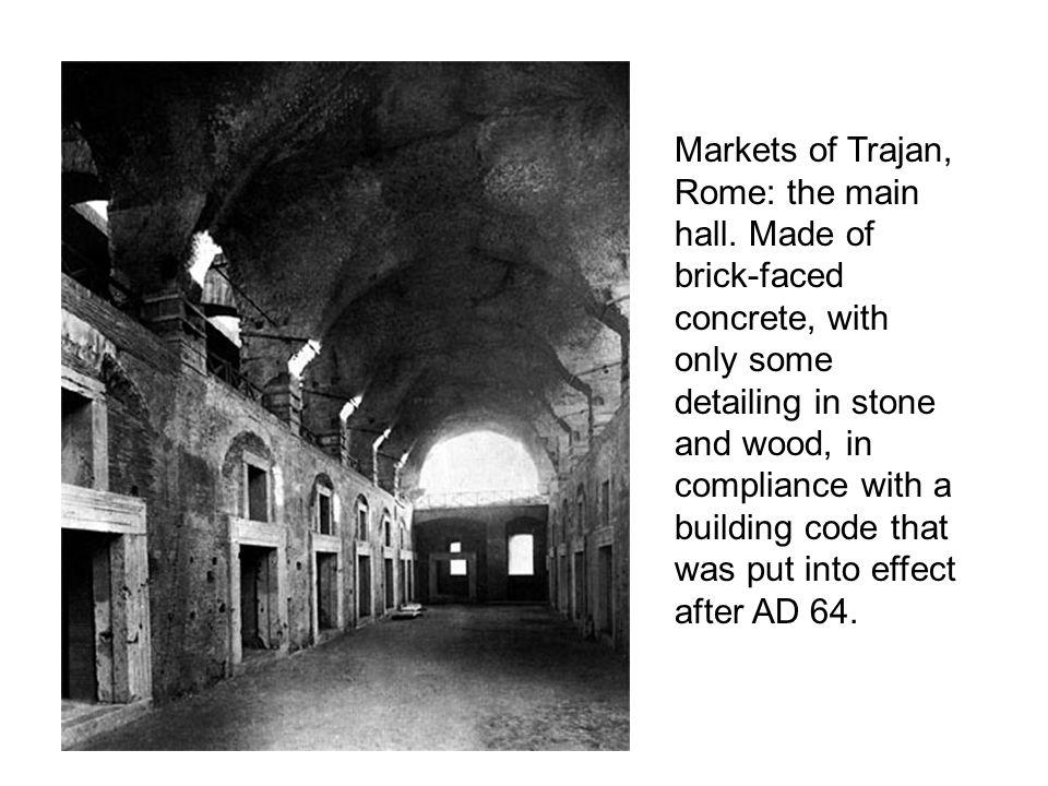Markets of Trajan, Rome: the main hall