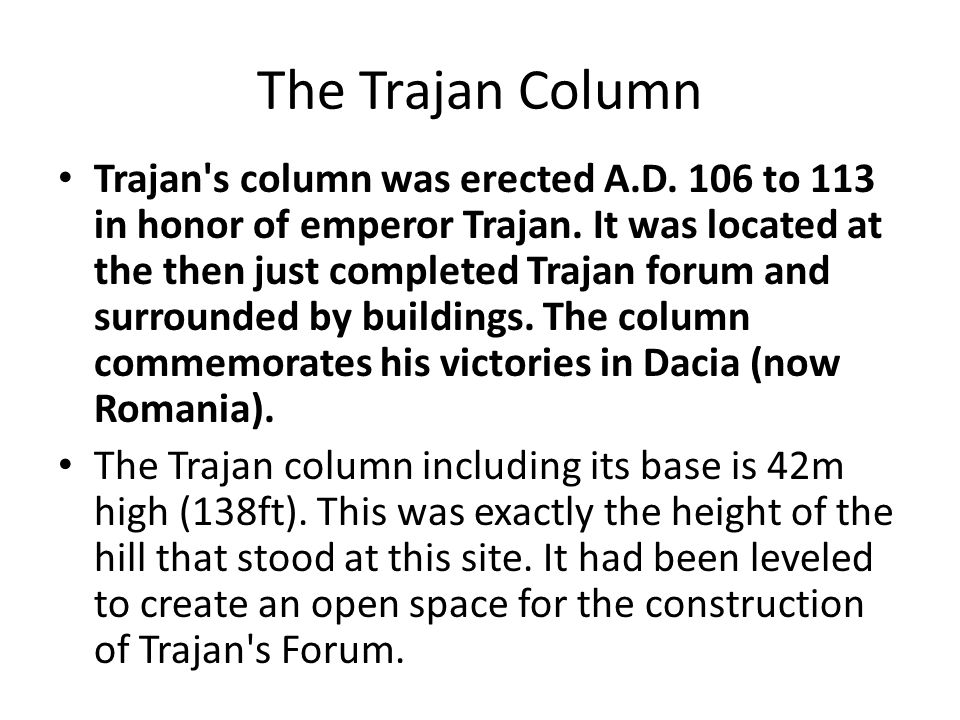 The Trajan Column