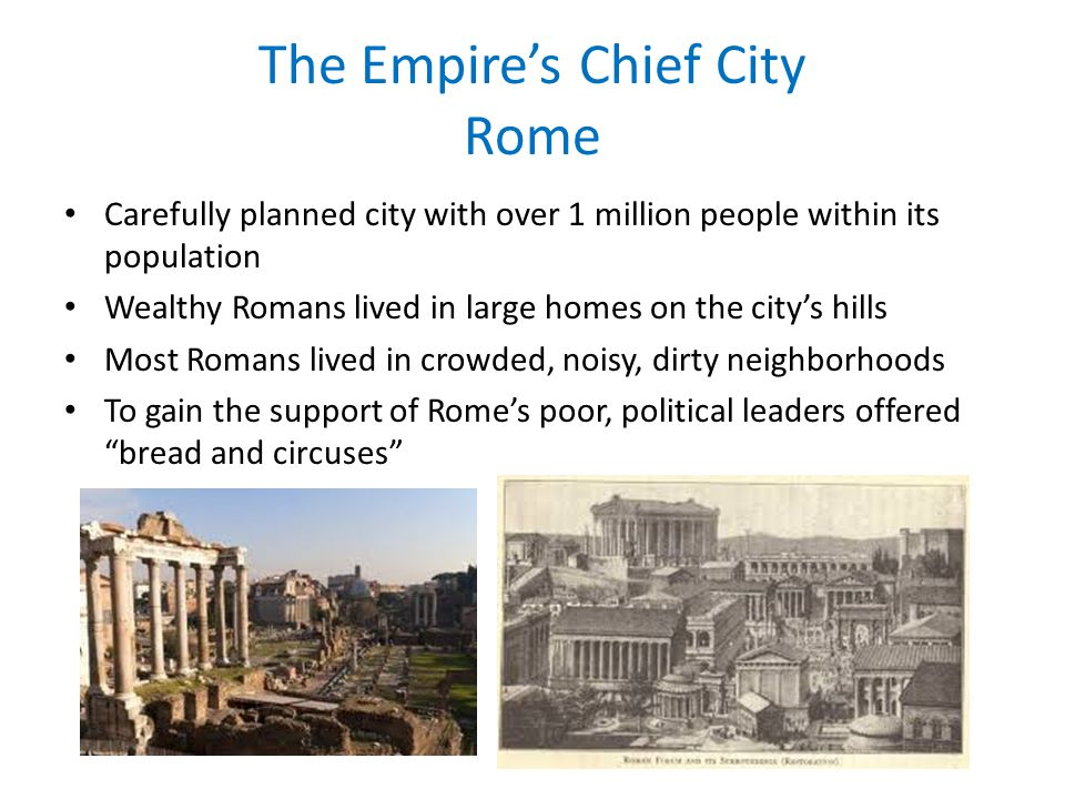 The Empire's Chief City Rome