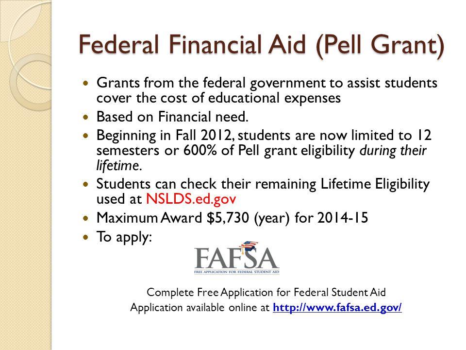 Federal Financial Aid (Pell Grant)