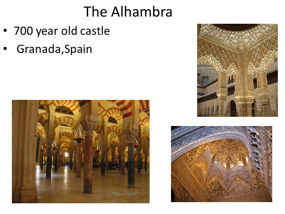 The Alhambra 700 year old castle Granada,Spain