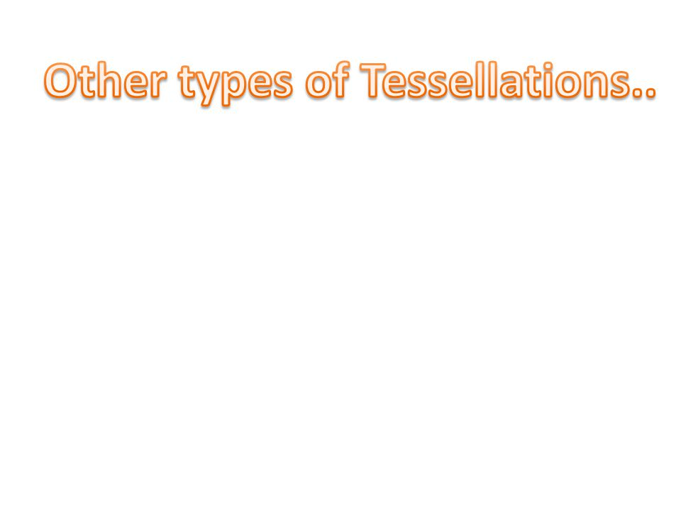 Other types of Tessellations..