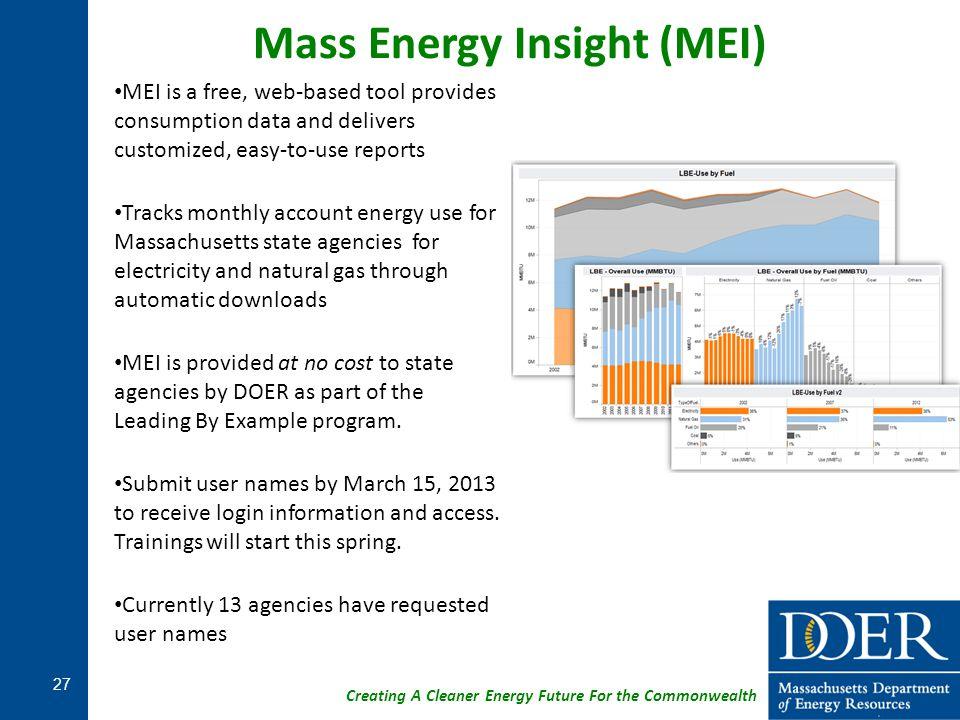 Mass Energy Insight (MEI)