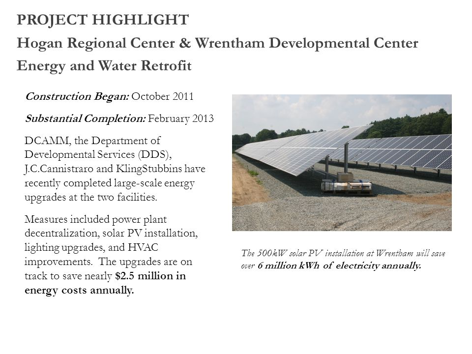 Hogan Regional Center & Wrentham Developmental Center