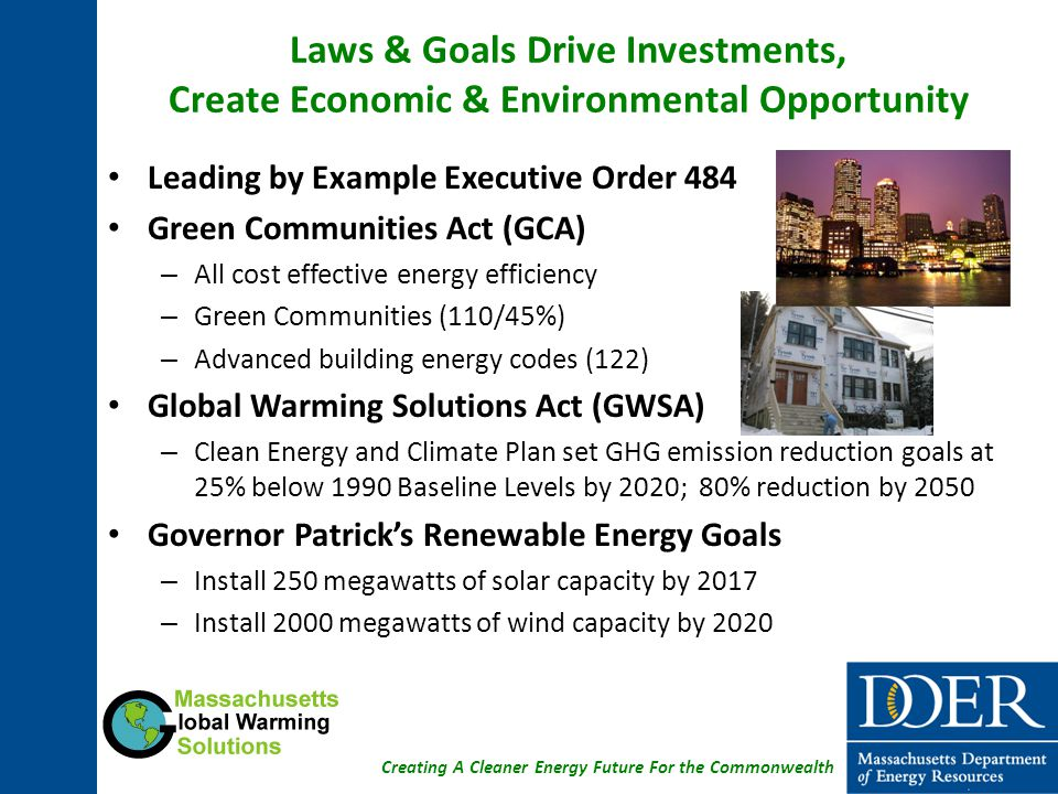 Laws & Goals Drive Investments, Create Economic & Environmental Opportunity