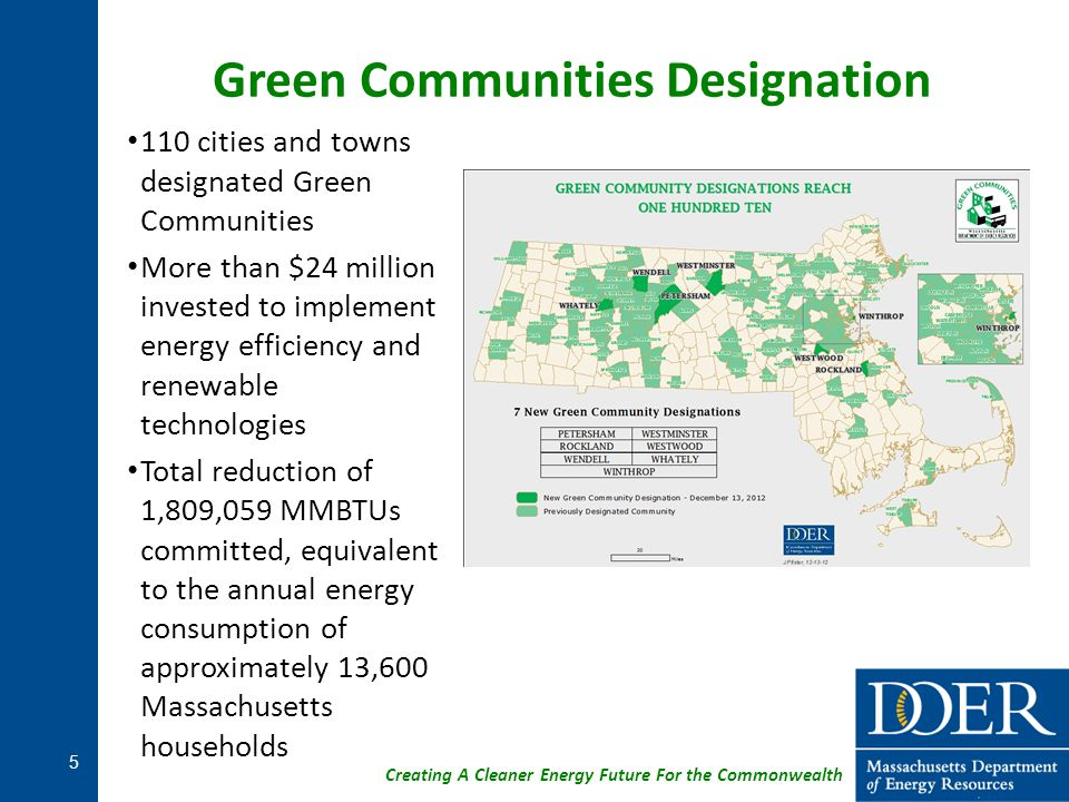 Green Communities Designation
