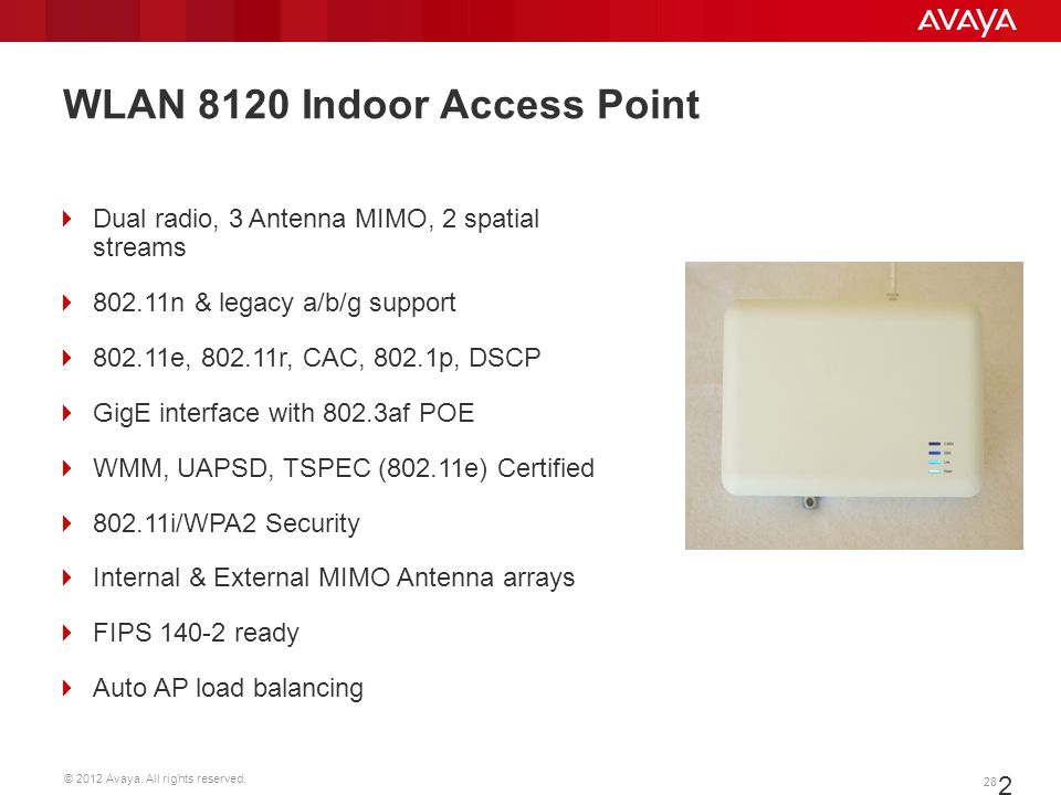 WLAN 8120 Indoor Access Point