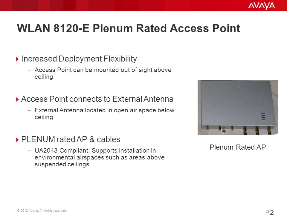 WLAN 8120-E Plenum Rated Access Point
