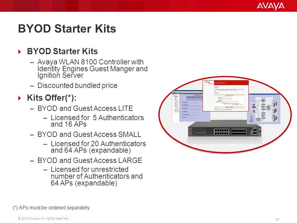 BYOD Starter Kits BYOD Starter Kits Kits Offer(*):