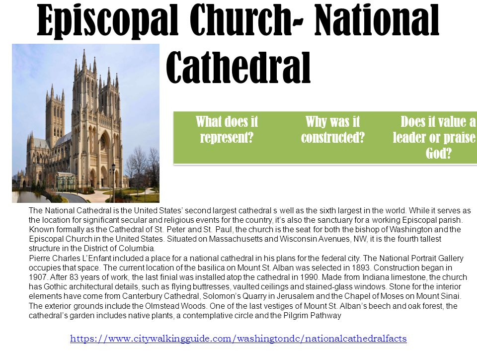 Episcopal Church- National Cathedral