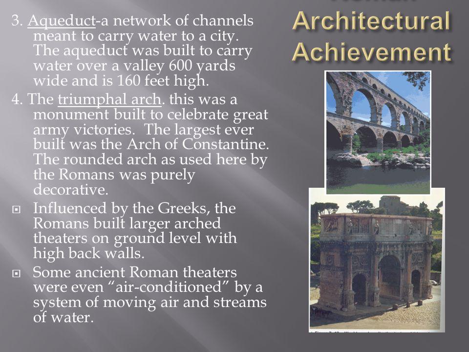 Roman Architectural Achievements