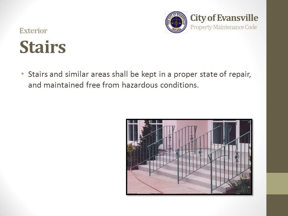 Exterior Stairs City of Evansville