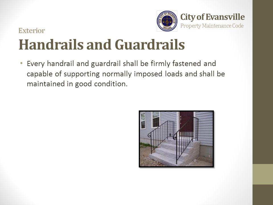 Exterior Handrails and Guardrails