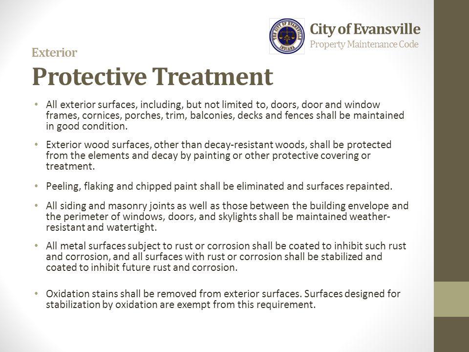 Exterior Protective Treatment