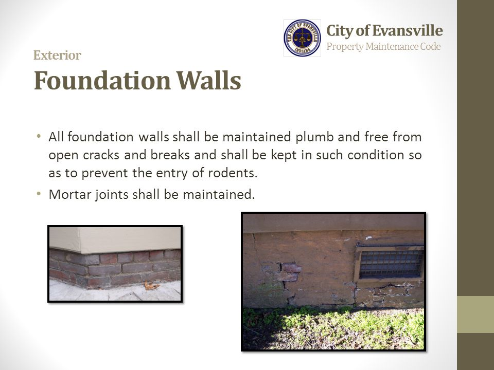 Exterior Foundation Walls