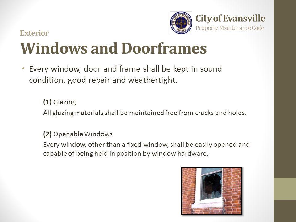 Exterior Windows and Doorframes