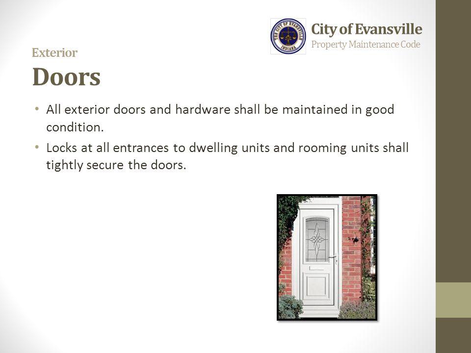 Exterior Doors City of Evansville
