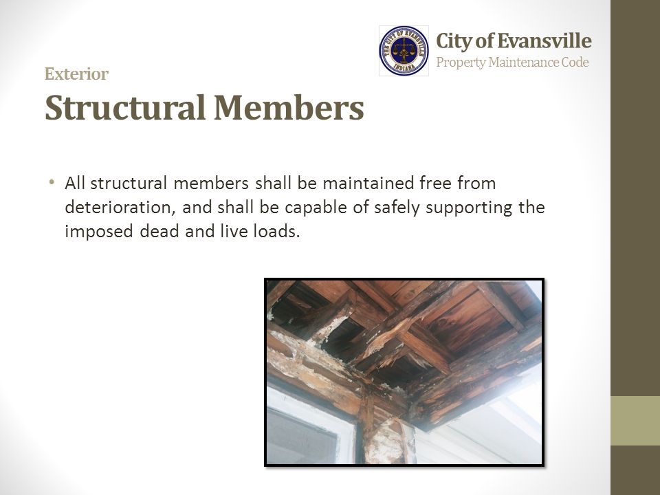 Exterior Structural Members