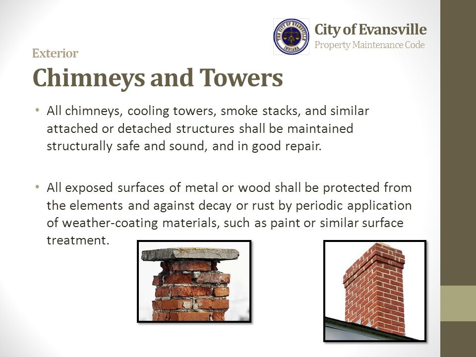 Exterior Chimneys and Towers