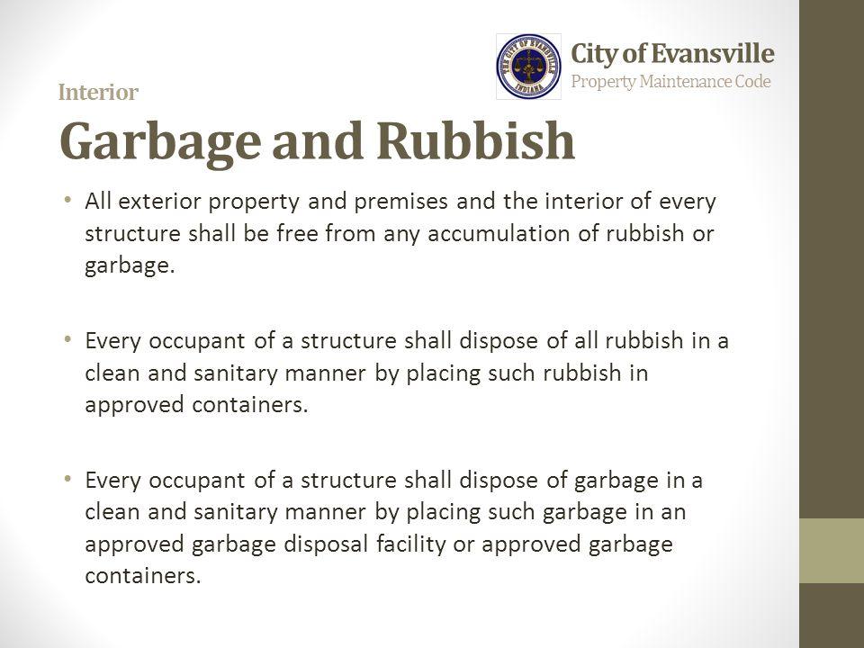Interior Garbage and Rubbish