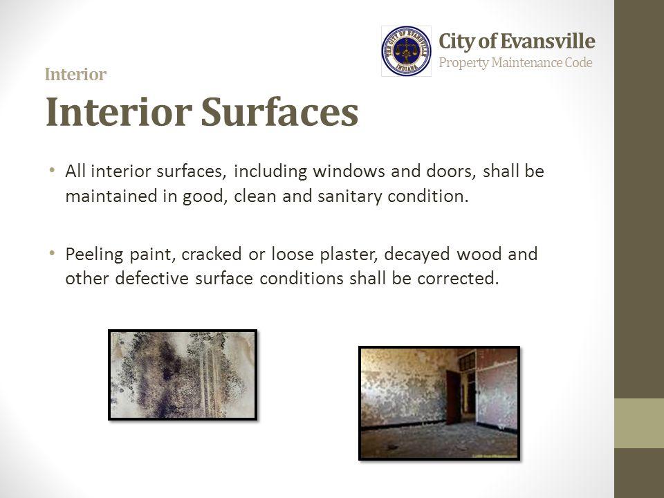 Interior Interior Surfaces