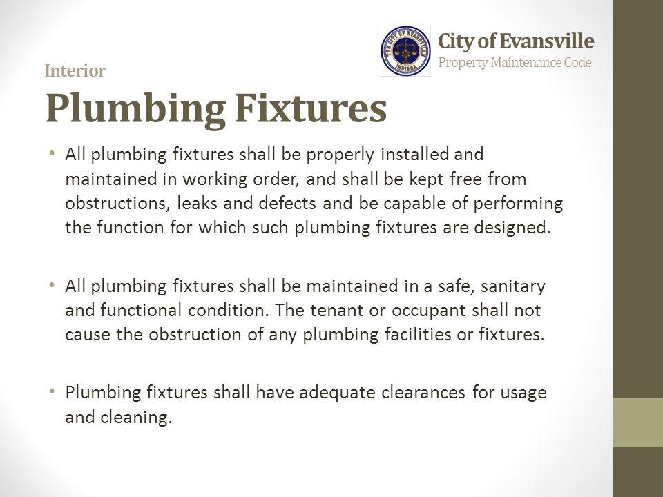 Interior Plumbing Fixtures